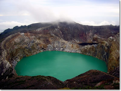 Three Color Lakes of Mount Kelimutu, Flores Island